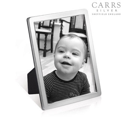 CARRS STERLING SILVER NARROW PLAIN EDGED PHOTO FRAME