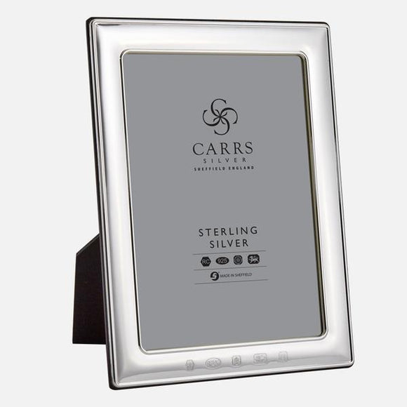 CARRS STERLING SILVER PORTLAND PHOTO FRAME PLAIN EDGE
