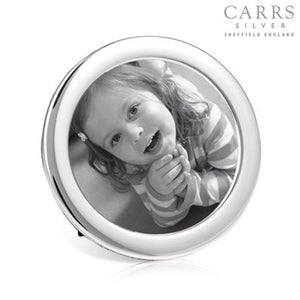 CARRS STERLING SILVER ROUND PHOTO FRAME