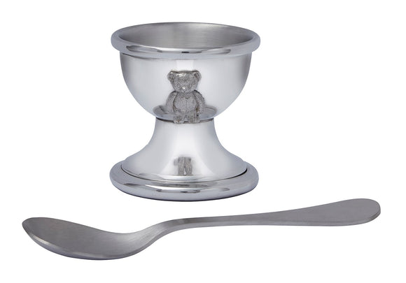 WENTWORTH PEWTER EGG CUP & SPOON