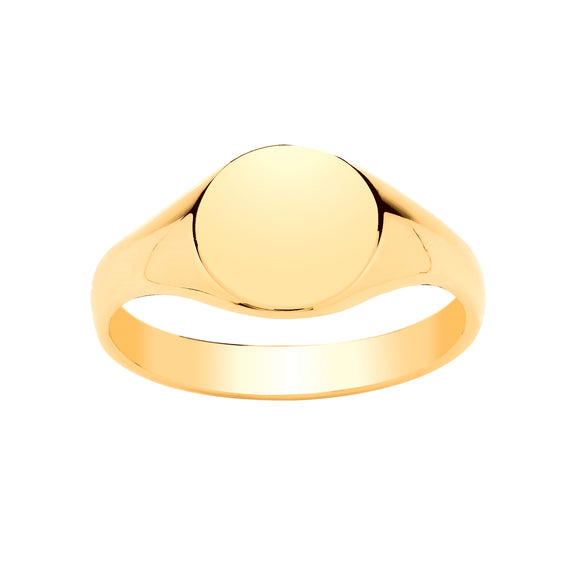 9CT GOLD LADIES' SIGNET RING
