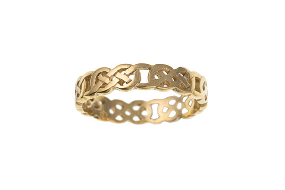 9CT GOLD MEN'S CELTIC RING