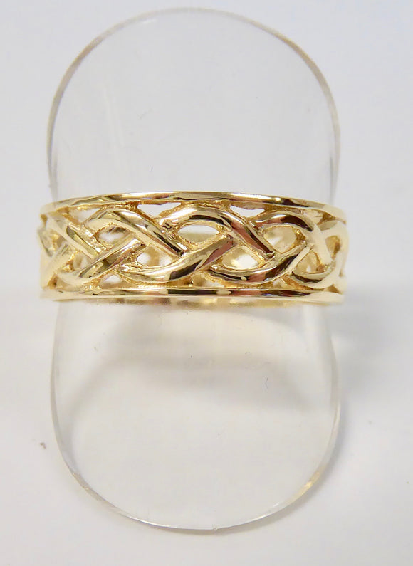 9CT GOLD GENTS CELTIC RING