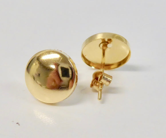 9CT GOLD BUTTON EARRINGS