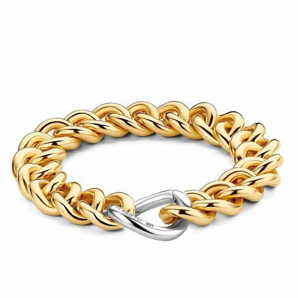 TI SENTO - MILANO YELLOW GOLD PLATED CHAIN BRACELET