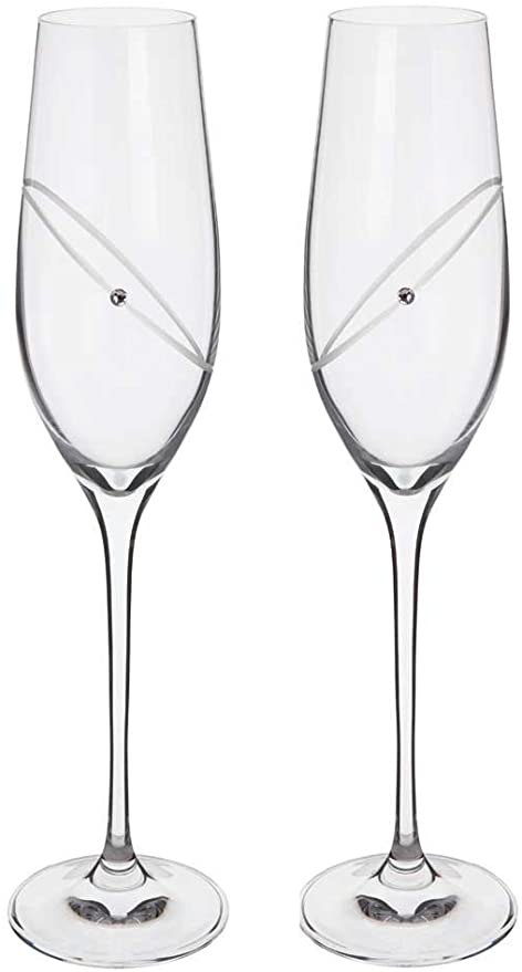 DARTINGTON PAIR OF CLEAR CELEBRATION FLUTES