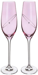 DARTINGTON PAIR OF RUBY CELEBRATION FLUTES