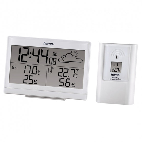 HAMA EWS-890 WEATHER STATION CLOCK AND OUTDOOR SENSOR