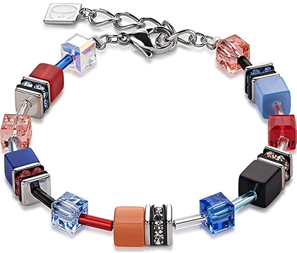 COEUR DE LION BLUE, PINK & RED GEOCUBE BRACELET
