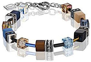 COEUR DE LION BLUE & BROWN GEOCUBE BRACELET