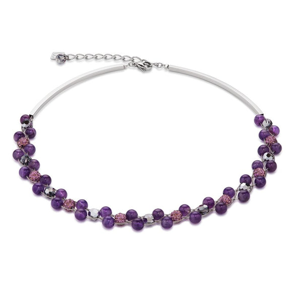 COEUR DE LION AMETHYST & CRYSTAL NECKLACE