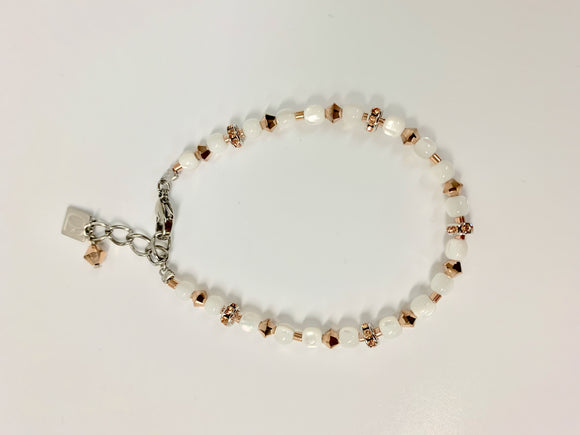 COEUR DE LION MOTHER OF PEARL & ROSE BRACELET