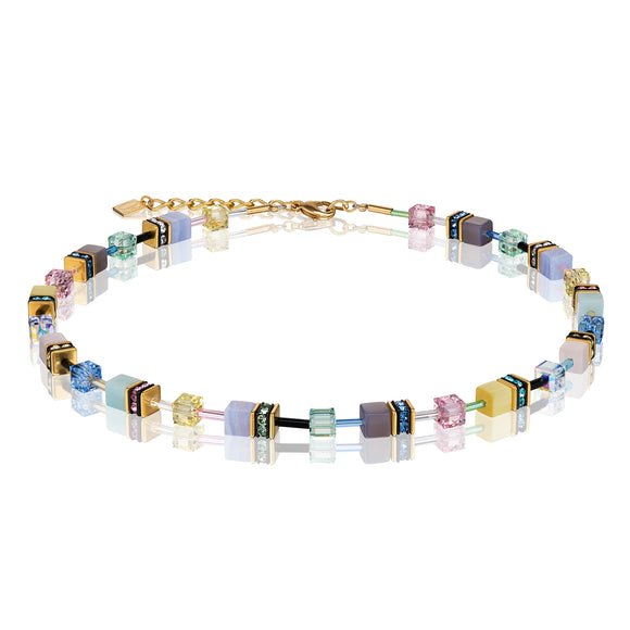 COEUR DE LION GEOCUBE PASTEL NECKLACE