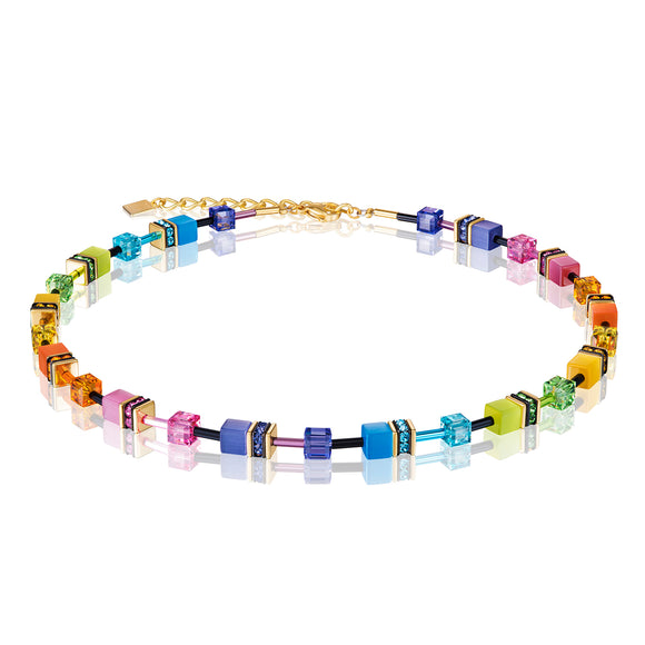 COEUR DE LION MULTICOLOUR GEOCUBE NECKLACE