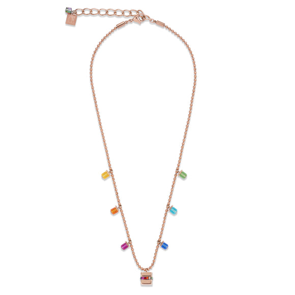 COEUR DE LION MULTICOLOUR CUBE NECKLACE