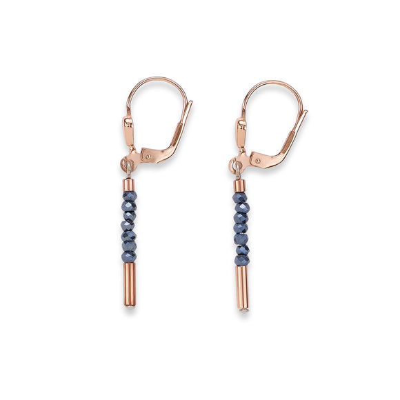 COEUR DE LION ROSE GOLD & CUT GLASS EARRINGS