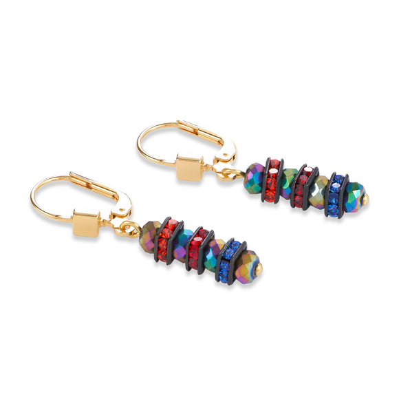 COUER DE LION MULTICOLOUR CRYSTAL EARRINGS