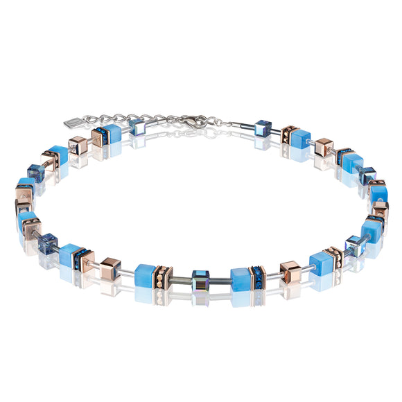 COEUR DE LION BLUE GEOCUBE NECKLACE