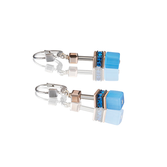 COEUR DE LION BLUE GEOCUBE EARRINGS