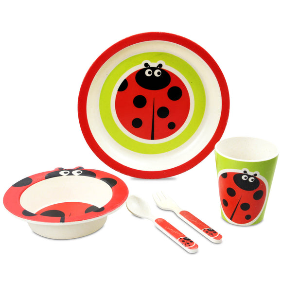 ARTHUR PRICE BAMBOO LADYBIRD 5 PIECE CHILD SET