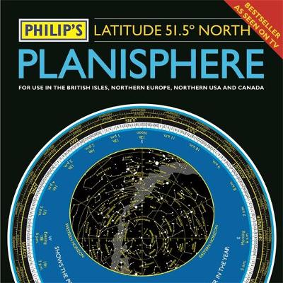 PHILIPS 51.5°N PLANISPHERE - NORTHERN EUROPE, NORTHERN USA AND CANADA
