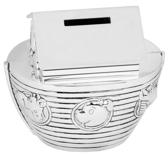BAMBINO SILVER PLATED MONEY BOX NOAH'S ARK