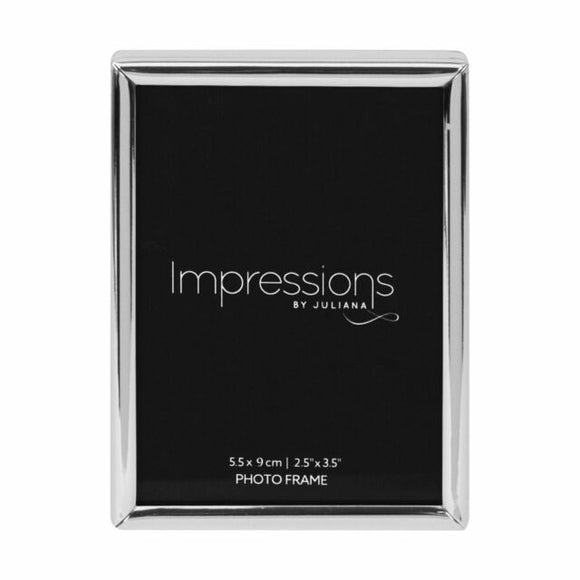 IMPRESSIONS SILVER PLATED PLAIN NARROW PHOTO FRAME
