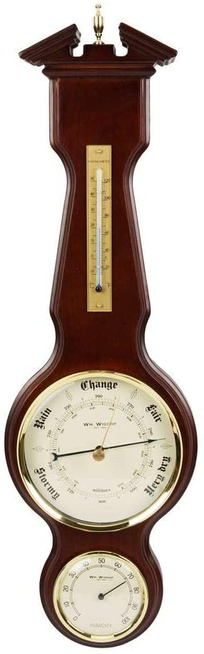 WIDDOP BAROMETER THERMOMETER HYGROMETER CLASSIC BANJO