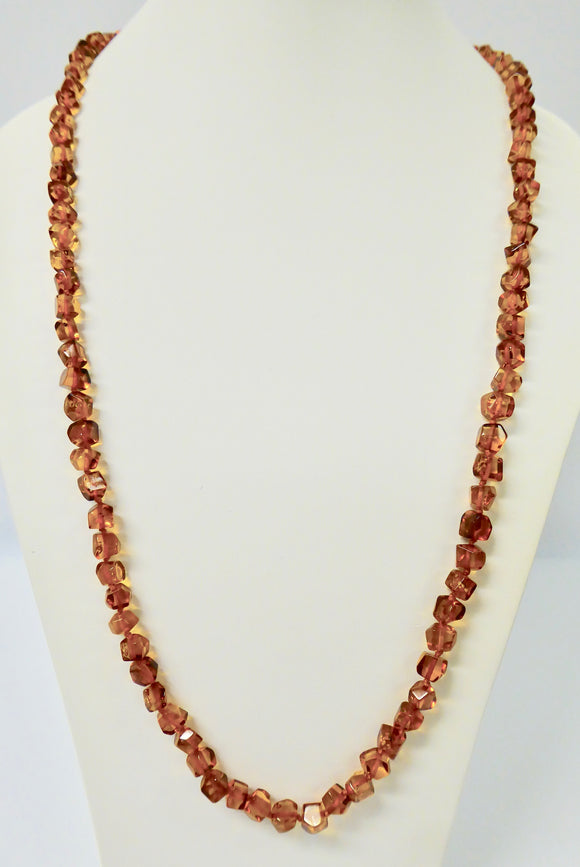 AMBER SQUARE CUT LONG NECKLACE