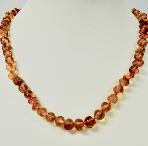 AMBER SMALL NUGGET BEAD NECKLACE