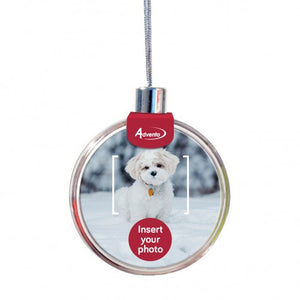 CHRISTMAS ROUND PHOTO ORNAMENT