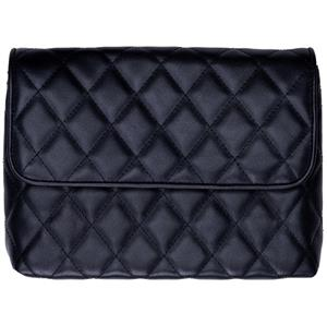 OLYMPUS PEN BLACK QUILTED CLUTCH BAG