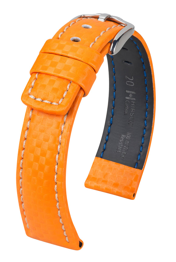 HIRSCH LEATHER CARBON STRAP LONG