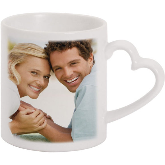 PHOTO HEART HANDLE MUG