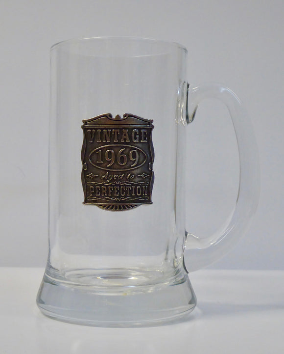 ENGLISH PEWTER GLASS TANKARD