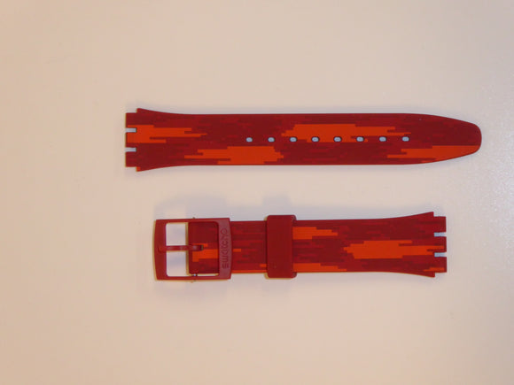 SWATCH STRAP RED FLAME