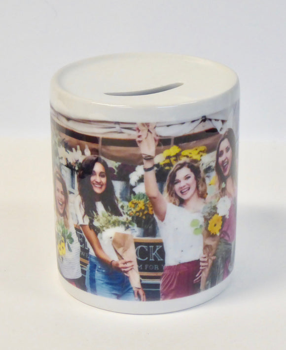CERAMIC PHOTO MONEY BOX