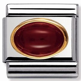 NOMINATION COMPOSABLE RED AGATE LINK