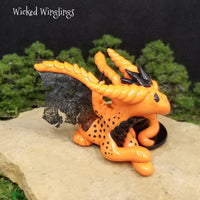 Aesca - Hand Sculpted Polymer Clay Witch Dragon - Wicked Winglings