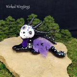 Tristeinne - Hand Sculpted Polymer Clay Sugar Skull Dragon - Wicked Winglings