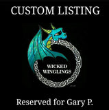 RESERVED for GARY P . - Custom Hand Sculpted Nurse Practitioner Elder Dragon - Wicked Winglings