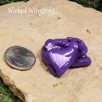 Morg - Hand Sculpted Polymer Clay Dragon - Wicked Winglings