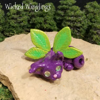 Faylinn - Hand Sculpted Polymer Clay Pixieling - Wicked Winglings