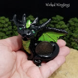Aedarc - Hand Sculpted Polymer Clay Youngling Dragon - Wicked Winglings