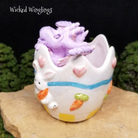 RESERVED FOR FRANK C. - Pashka - Hand Sculpted Polymer Clay Easter Egg Dragon - Wicked Winglings