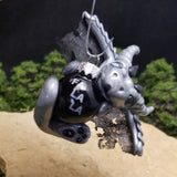 Grevin - Hand Sculpted Mini Polymer Clay Dragon Ornament - Wicked Winglings
