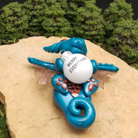Neikur - Hand Sculpted Polymer Clay Dragon Ornament - Wicked Winglings