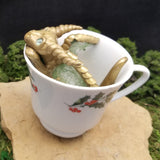 Eressa - Hand Sculpted Polymer Clay Dragons in Coffee Cup - Wicked Winglings