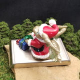 Arzhur - Hand Sculpted Polymer Clay Santa Dragon Stocking Holder - Wicked Winglings