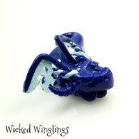 Enevin - Hand Sculpted Polymer Clay Dragon - Wicked Winglings